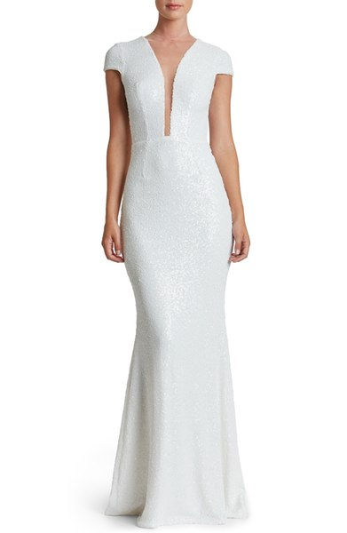 White Modern Sequin Dress