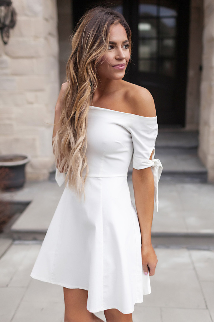 off the shoulder bow